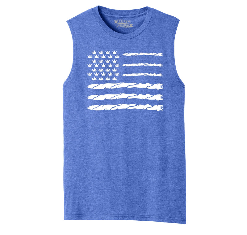 Weed Joint American Flag Mens Muscle Tank Muscle Tee