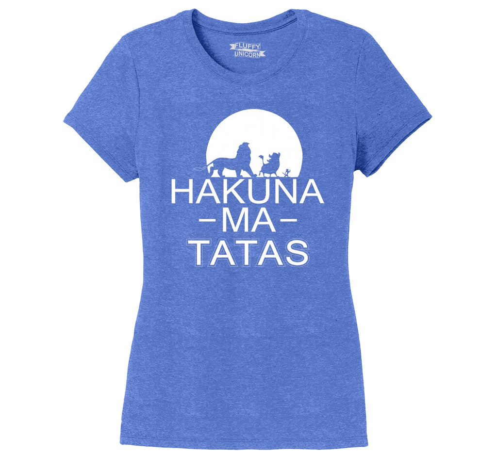 Hakuna Ma Tatas Ladies Short Sleeve Tri-Blend Shirt