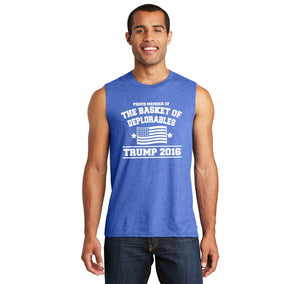 Proud Member Of Basket Of Deplorables Anti Hillary Political Shirt Mens Muscle Tank Muscle Tee
