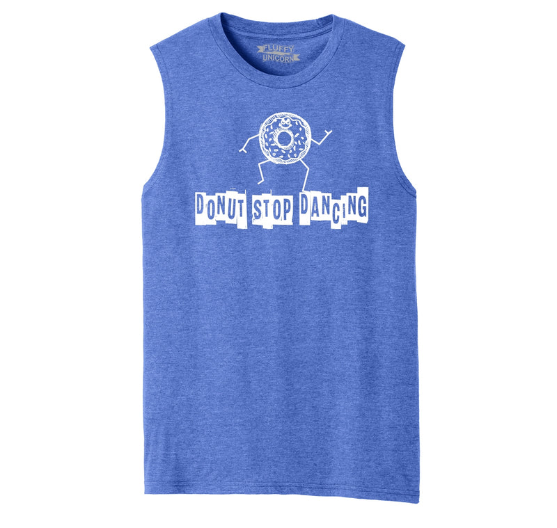Donut Stop Dancing Graphic Tee Mens Muscle Tank Muscle Tee