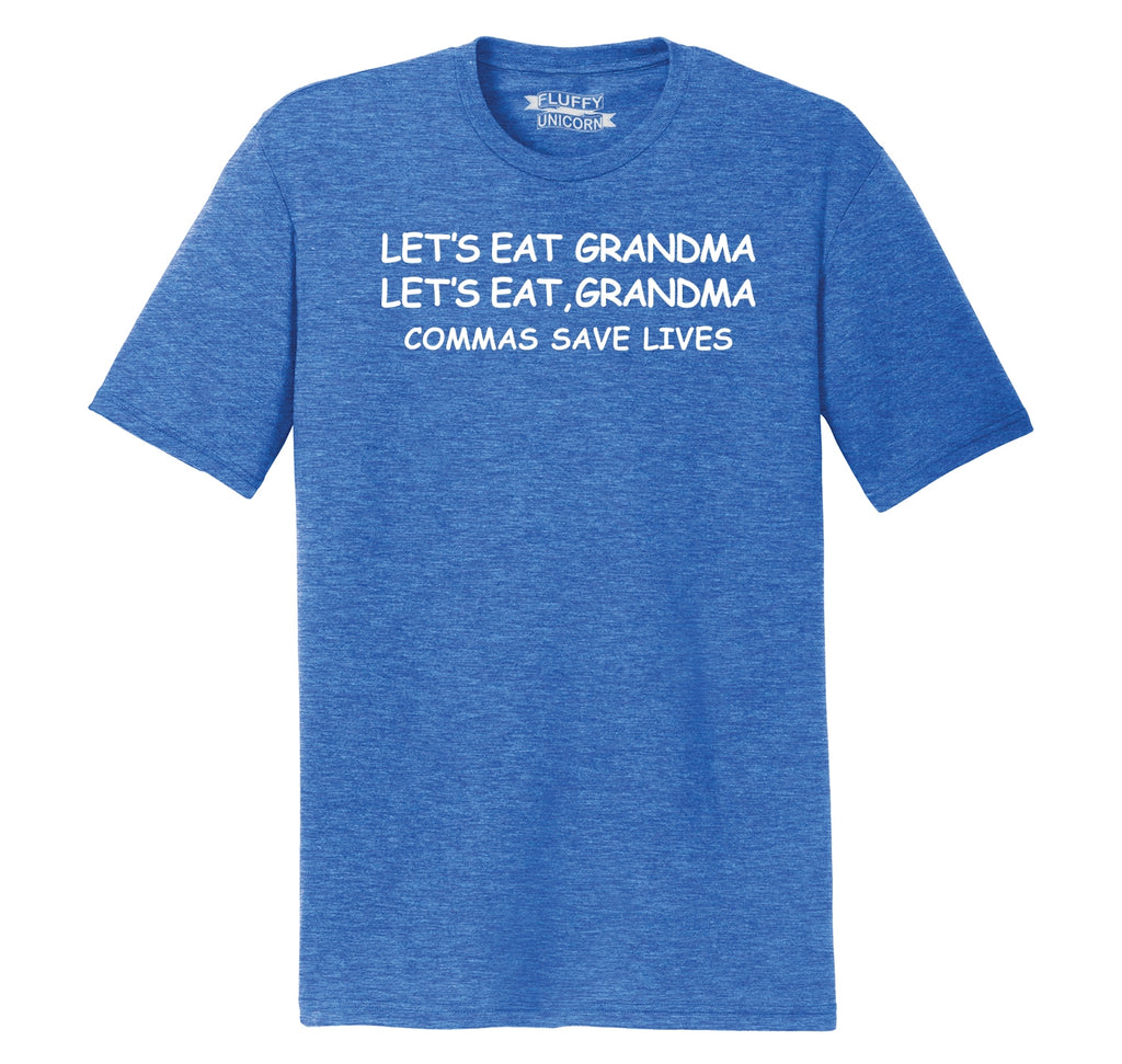 Lets Eat Grandma Let's Eat Grandma Grammar Mens Short Sleeve Tri-Blend Shirt