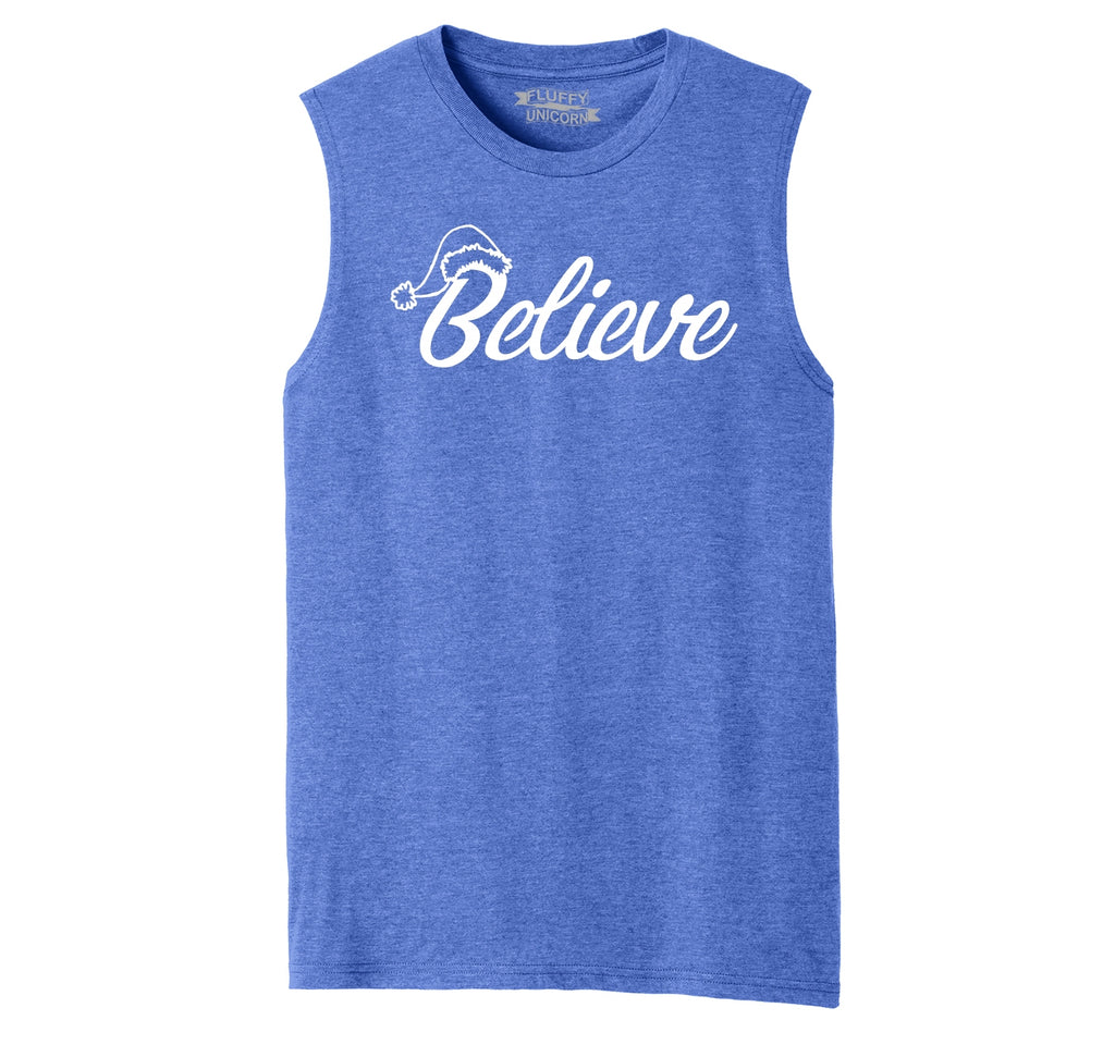 Believe in Santa Mens Muscle Tank Muscle Tee