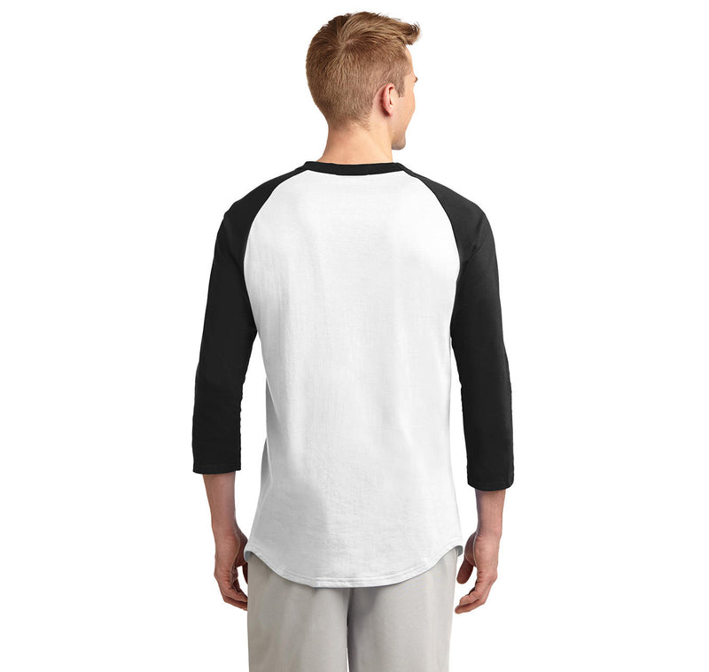 Be Rational Get Real Mens 3/4 Sleeve Raglan Jersey