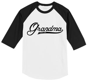 Grandma Since 2017 Shirt Cute New Baby Gift For Grandmother Mens 3/4 Sleeve Raglan Jersey
