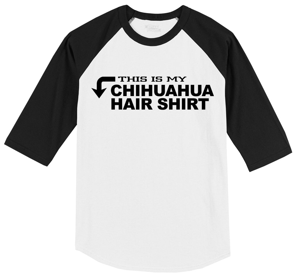 This Is My Chihuahua Hair Shirt Mens 3/4 Sleeve Raglan Jersey