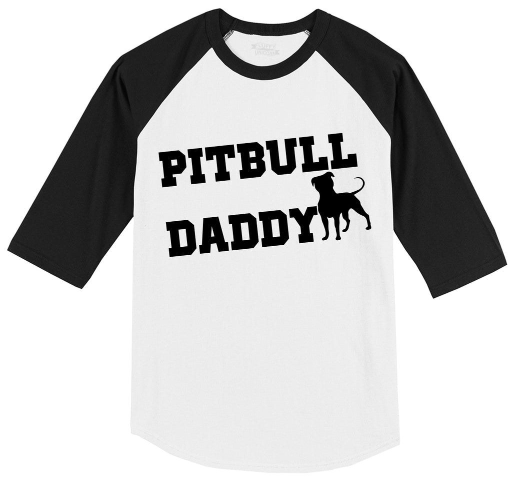 Pitbull Daddy Mens 3/4 Sleeve Raglan Jersey