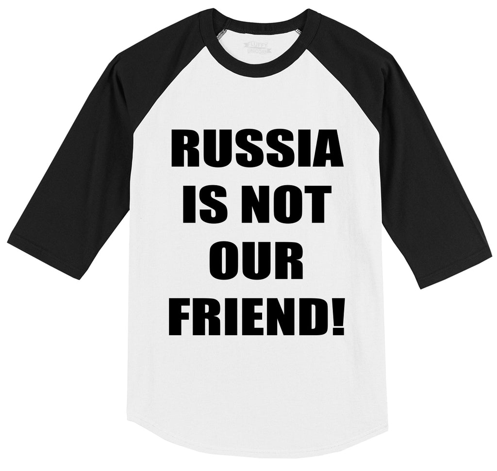 Russia Is Not Our Friend Mens 3/4 Sleeve Raglan Jersey