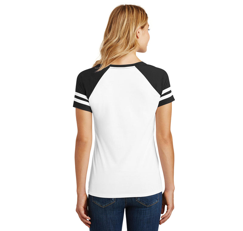 Bushwood Country Club Chest Print Ladies Short Sleeve Game V-Neck Shirt