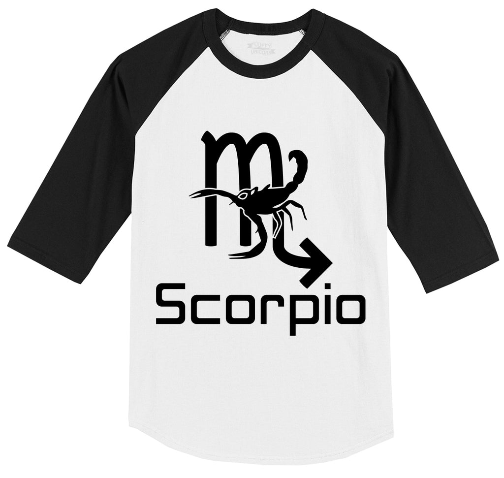Scorpio Horoscope Birthday Gift Mens 3/4 Sleeve Raglan Jersey