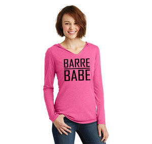 Barre Babe Ladies Tri-Blend Hooded Tee