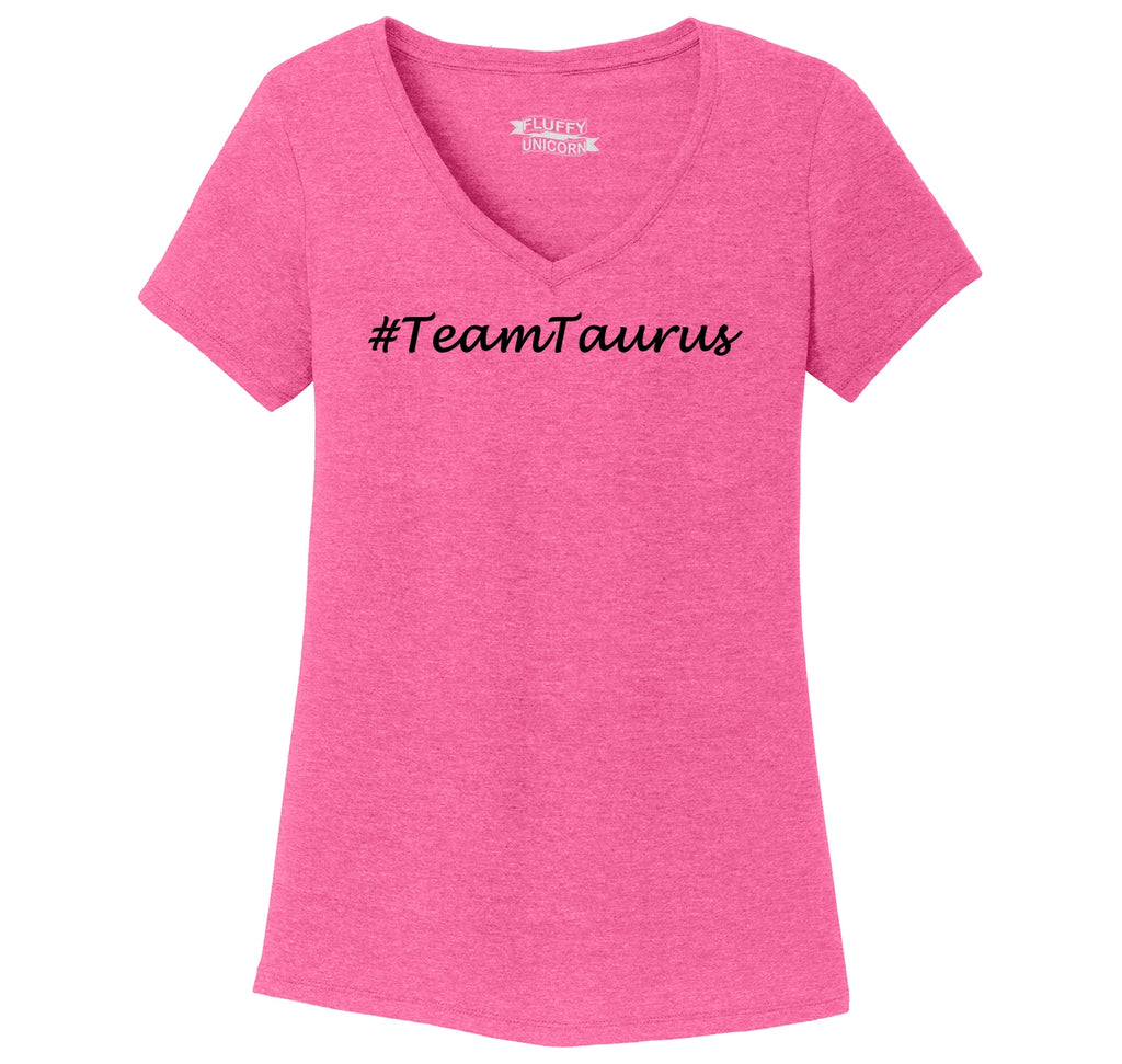 #TeamTaurus Ladies Tri-Blend V-Neck Tee Shirt