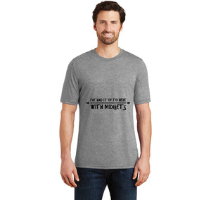 I've Had It Up To Here With Midgets Mens Short Sleeve Tri-Blend Shirt