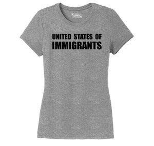 United States of Immigrants Ladies Short Sleeve Tri-Blend Shirt