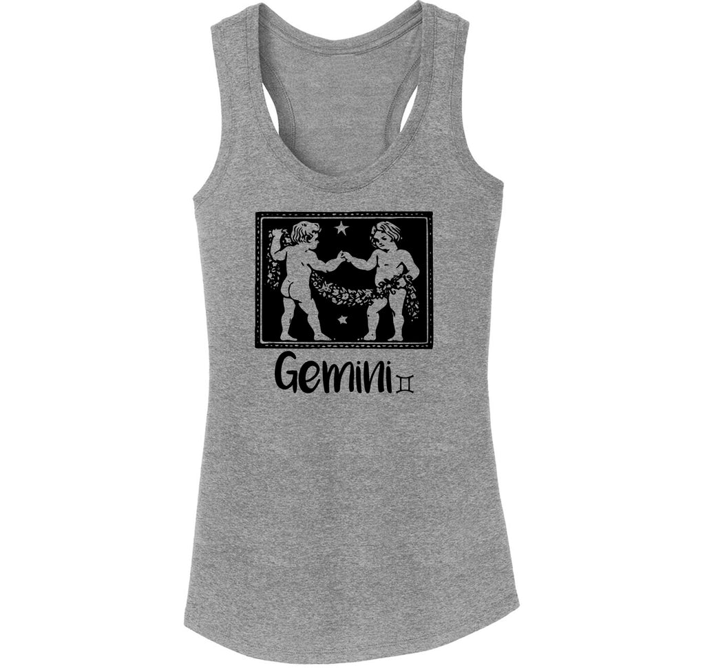 Horoscope Gemini Tee Ladies Tri-Blend Racerback Tank Top