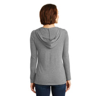My Happy Hour Is At The Barre Ladies Tri-Blend Hooded Tee