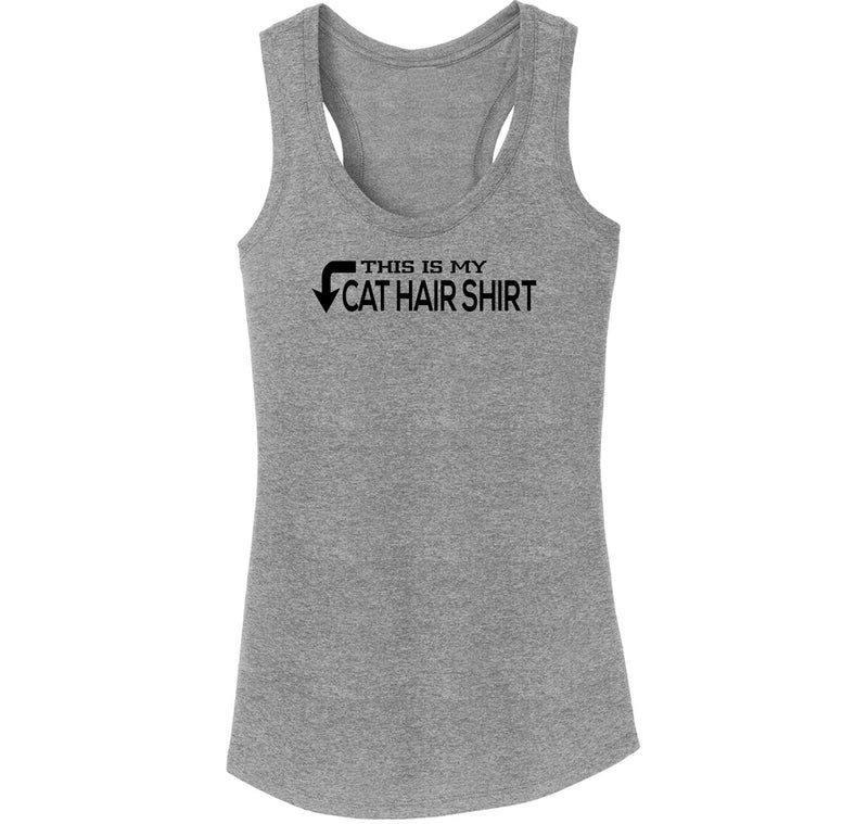 This Is My Cat Hair  T Shirt Ladies Tri-Blend Racerback Tank Top