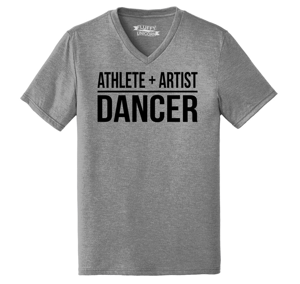 Athlete Artist Dancer Mens Tri-Blend V-Neck Tee Shirt