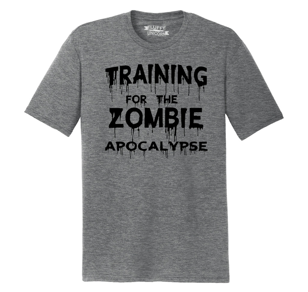 Training For The Zombie Apocalypse Mens Short Sleeve Tri-Blend Shirt