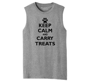 Keep Calm and Carry Treats Mens Muscle Tank Muscle Tee