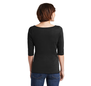 If You Stumble Make It Part Of The Dance Ladies Wide Neck 3/4 Sleeve Tee