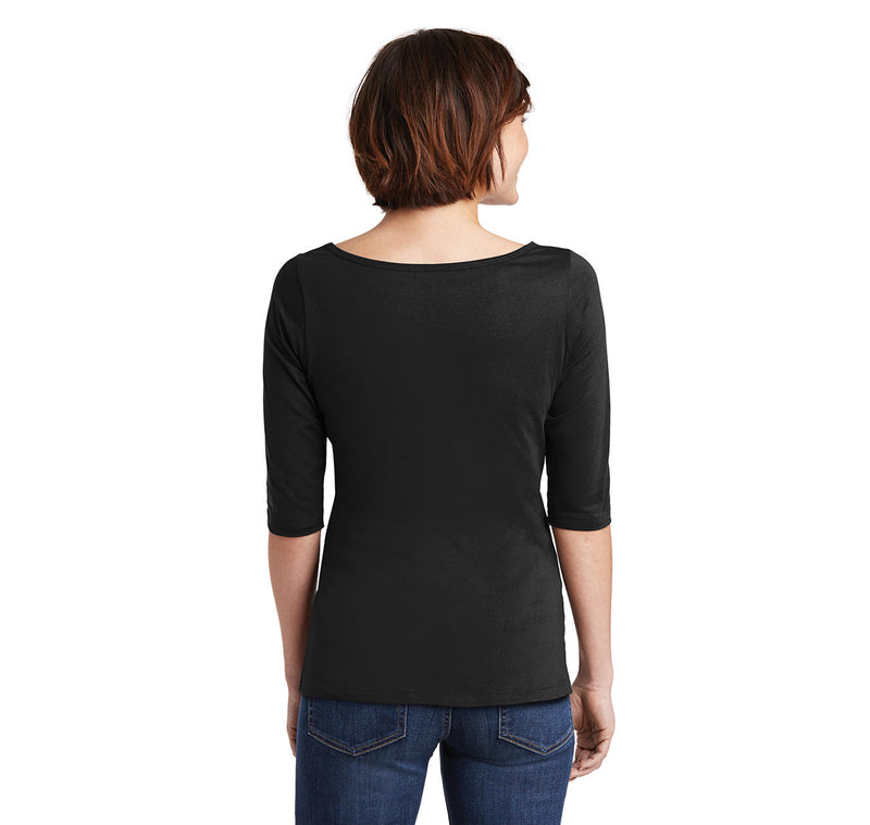 Dancers Turn Out Better Ladies Wide Neck 3/4 Sleeve Tee