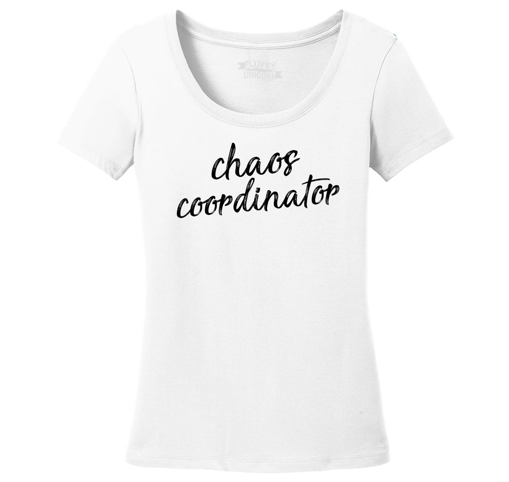 Chaos Coordinator Ladies Scoop Neck Tee