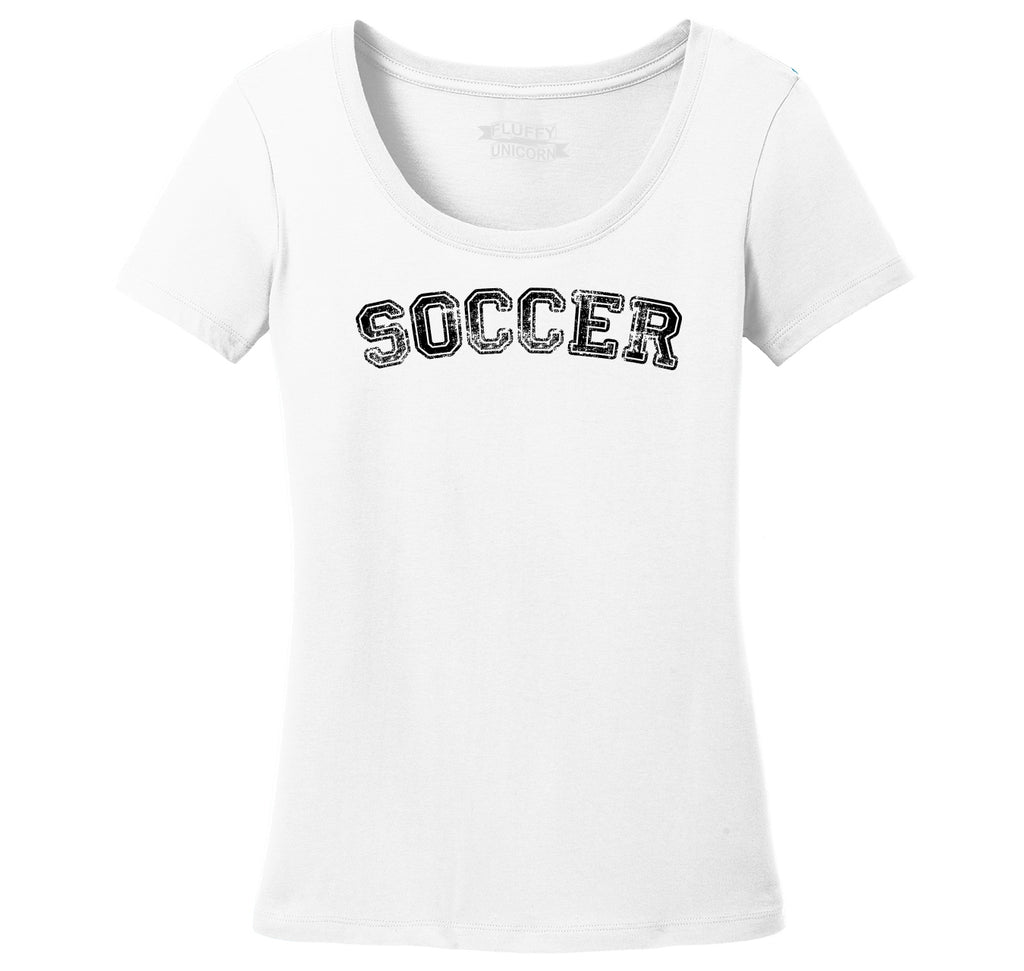 Soccer Sports Goalie Shirt Ladies Scoop Neck Tee