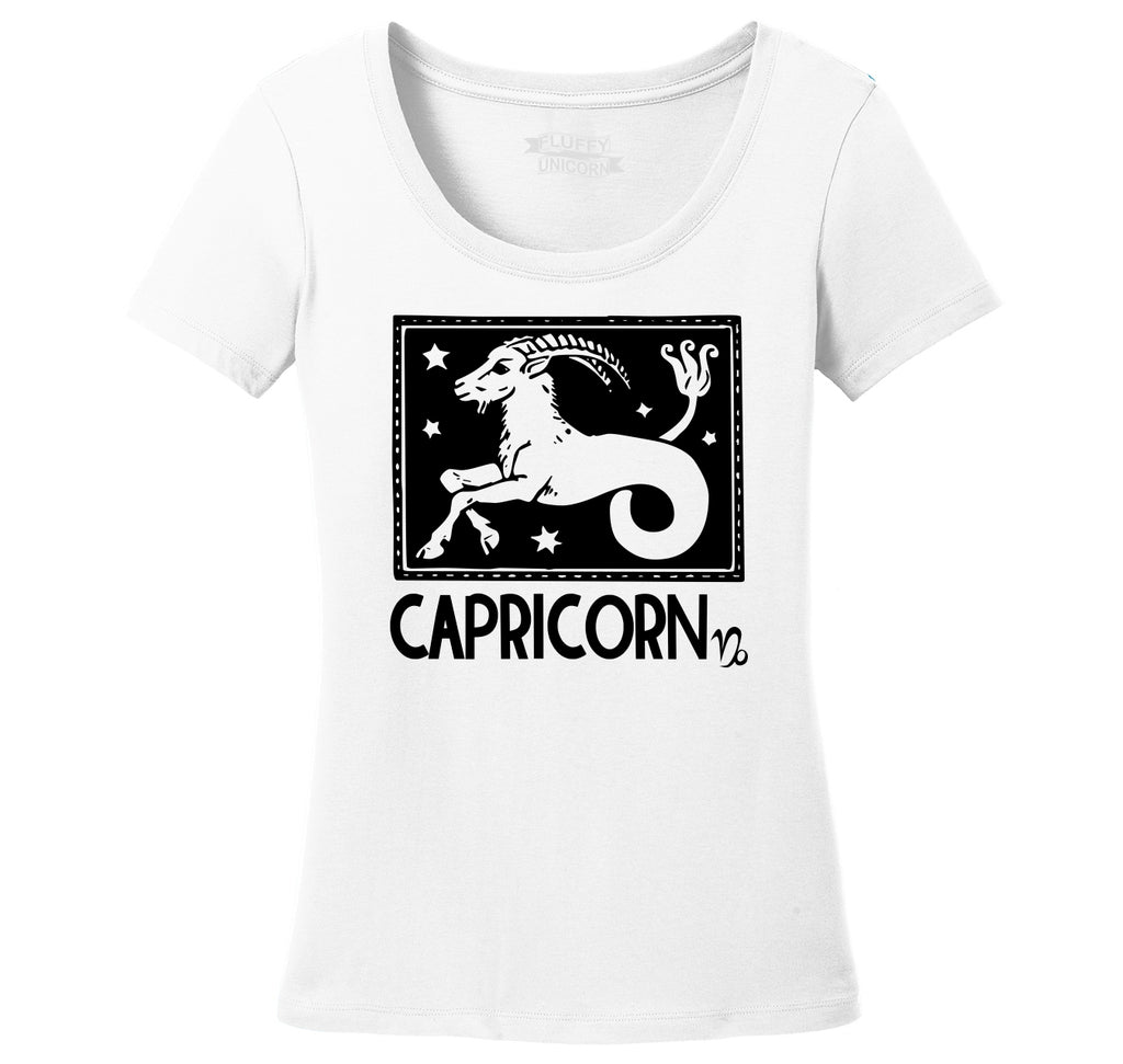Capricorn Horoscope Ladies Scoop Neck Tee