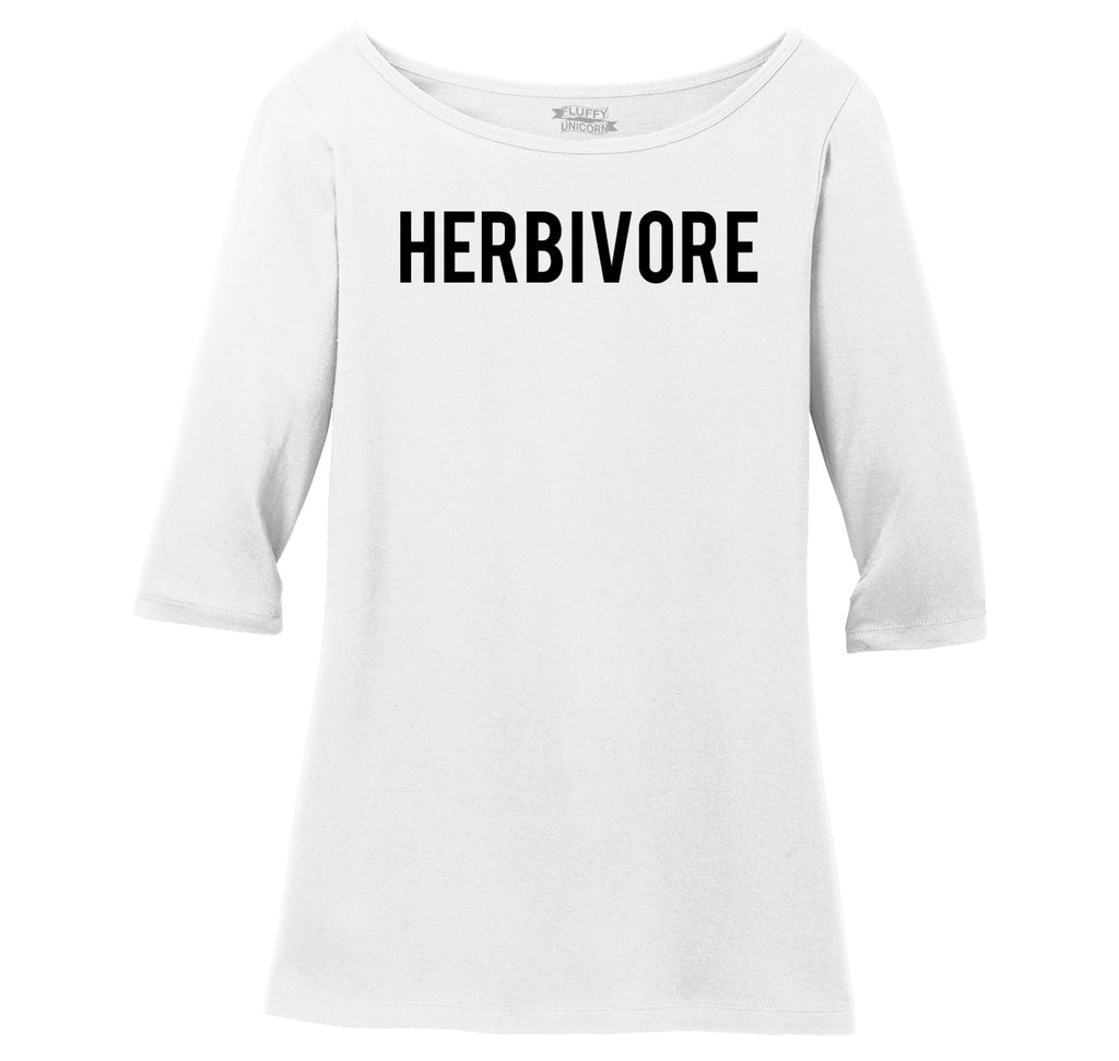 Herbivore Ladies Wide Neck 3/4 Sleeve Tee