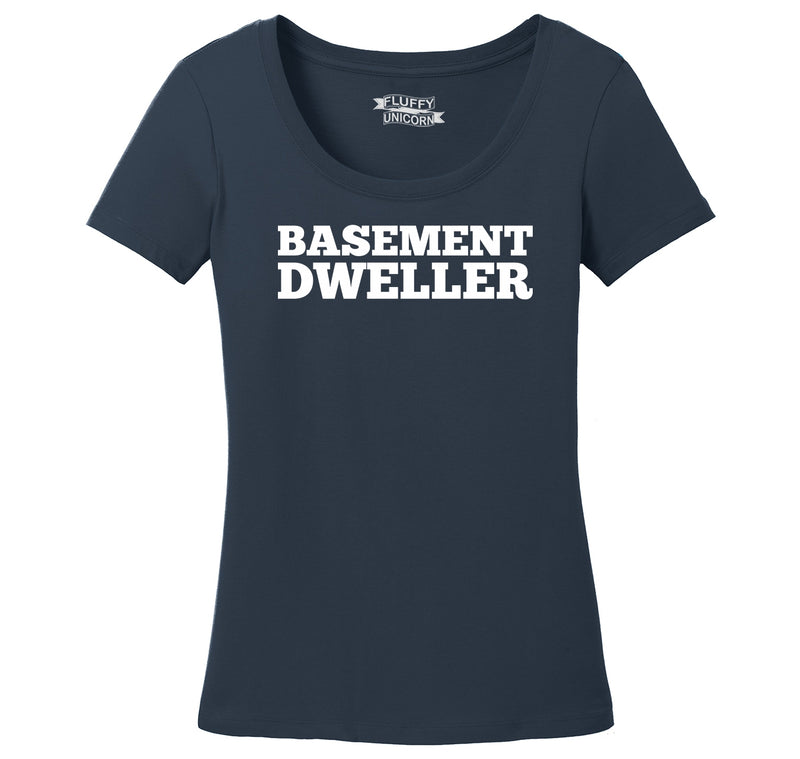 Basement Dweller Anti Hillary Bernie Sanders for President Tee Ladies Scoop Neck Tee