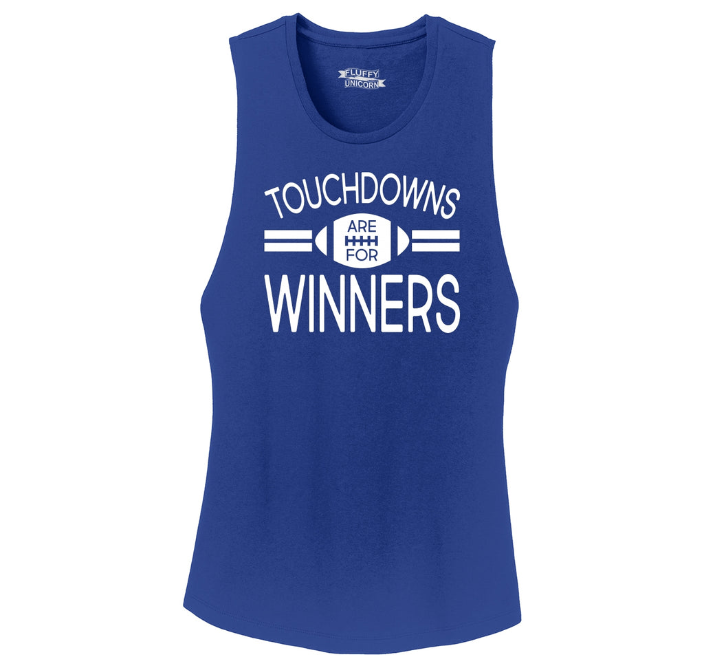 Touchdowns Are For Winners Football Sports Tee Ladies Festival Tank Top