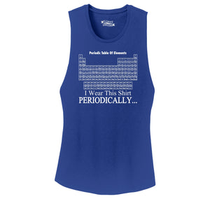 I Wear This Shirt Periodically Funny Science Shirt Cute Nerd Geek Shirt Ladies Festival Tank Top