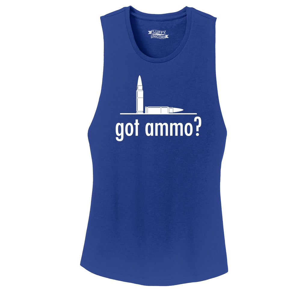 Got Ammo? Funny Gun Rights Tee Ladies Festival Tank Top