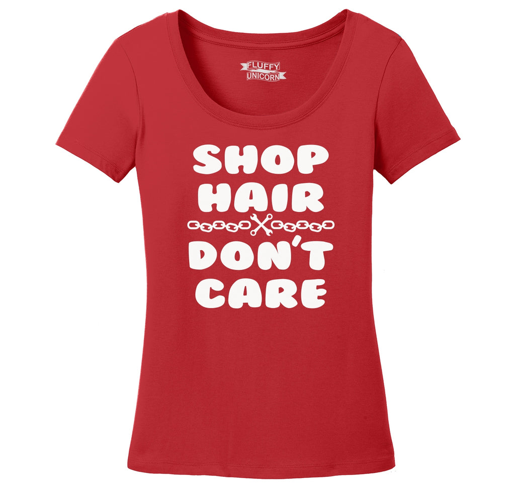 Shop Hair Don't Care Ladies Scoop Neck Tee