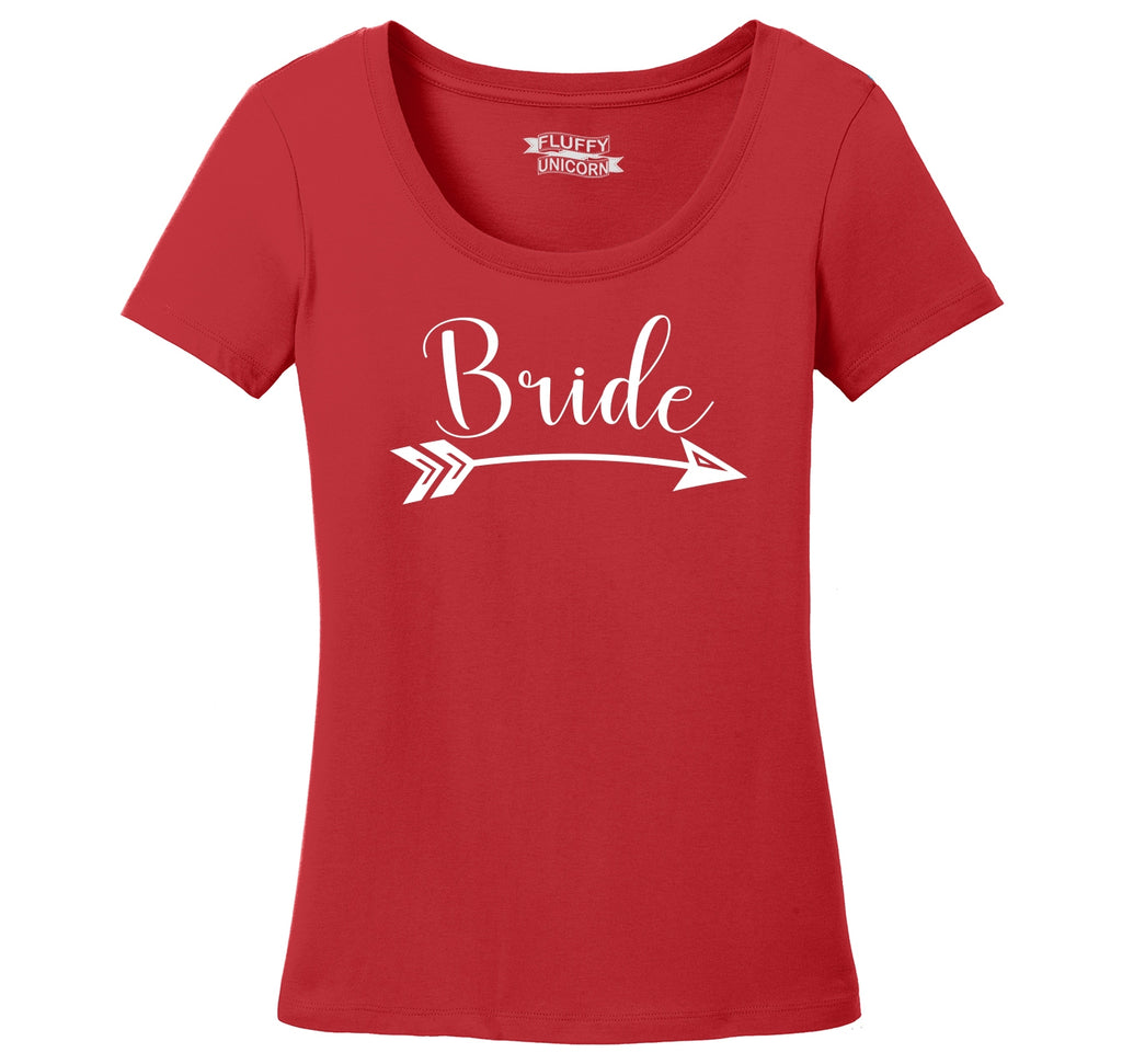 Bride Arrow Ladies Scoop Neck Tee