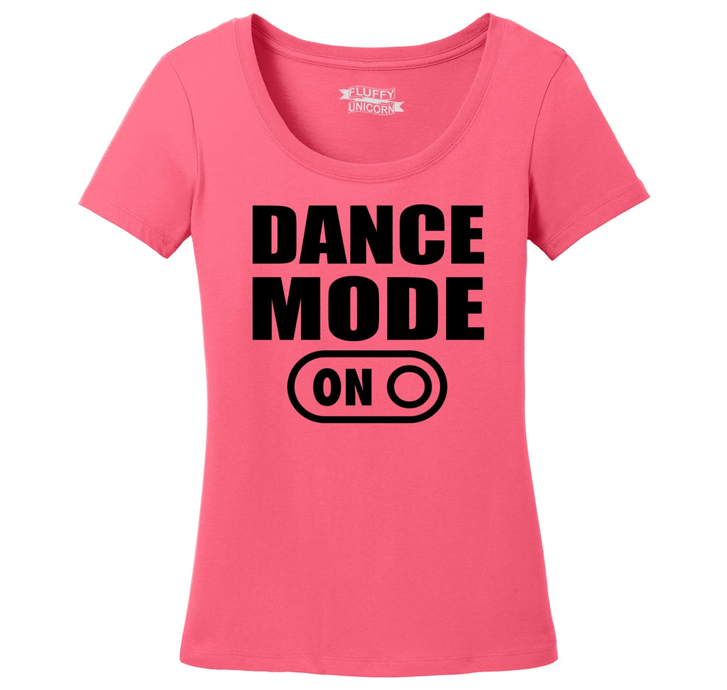 Dance Mode On Ladies Scoop Neck Tee