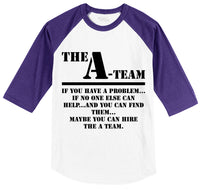 The A Team 80's TV Show Shirt Mens 3/4 Sleeve Raglan Jersey