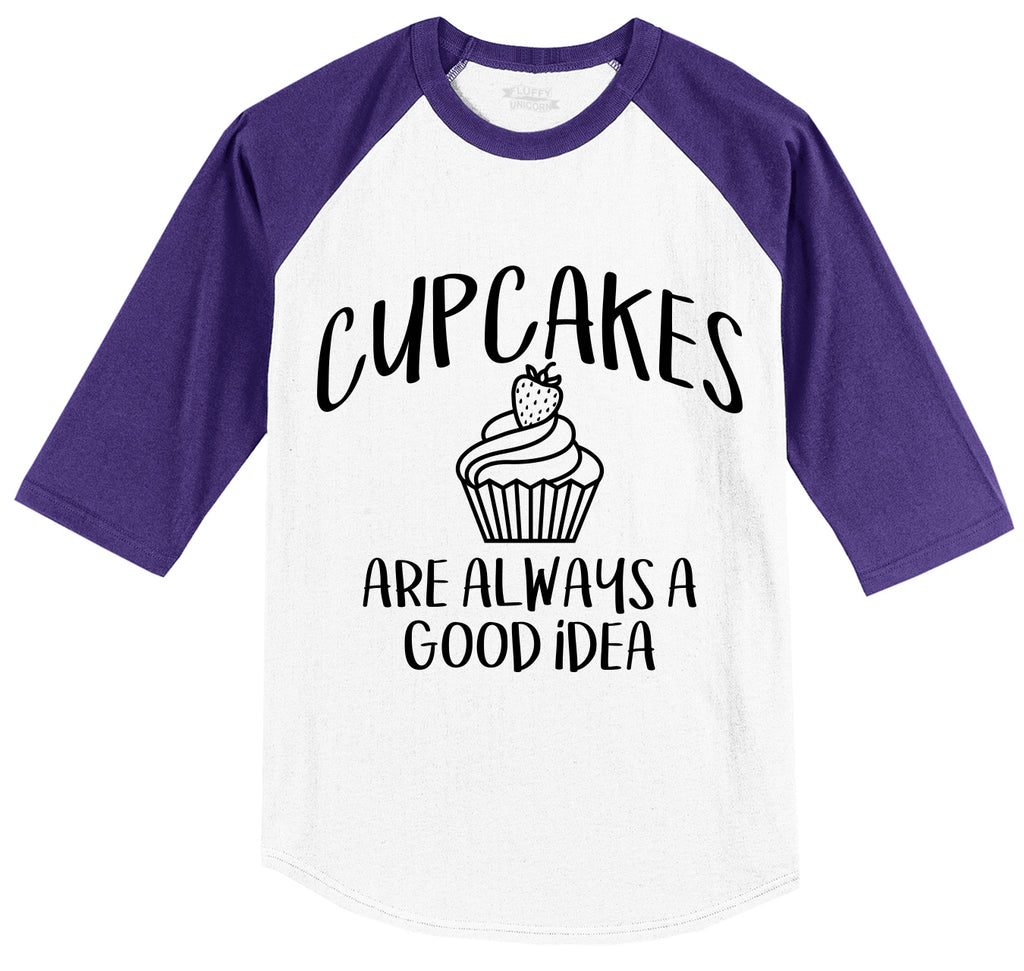 Cupcakes Are Always A Good Idea Mens 3/4 Sleeve Raglan Jersey