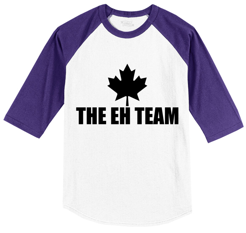The Eh Team Mens 3/4 Sleeve Raglan Jersey