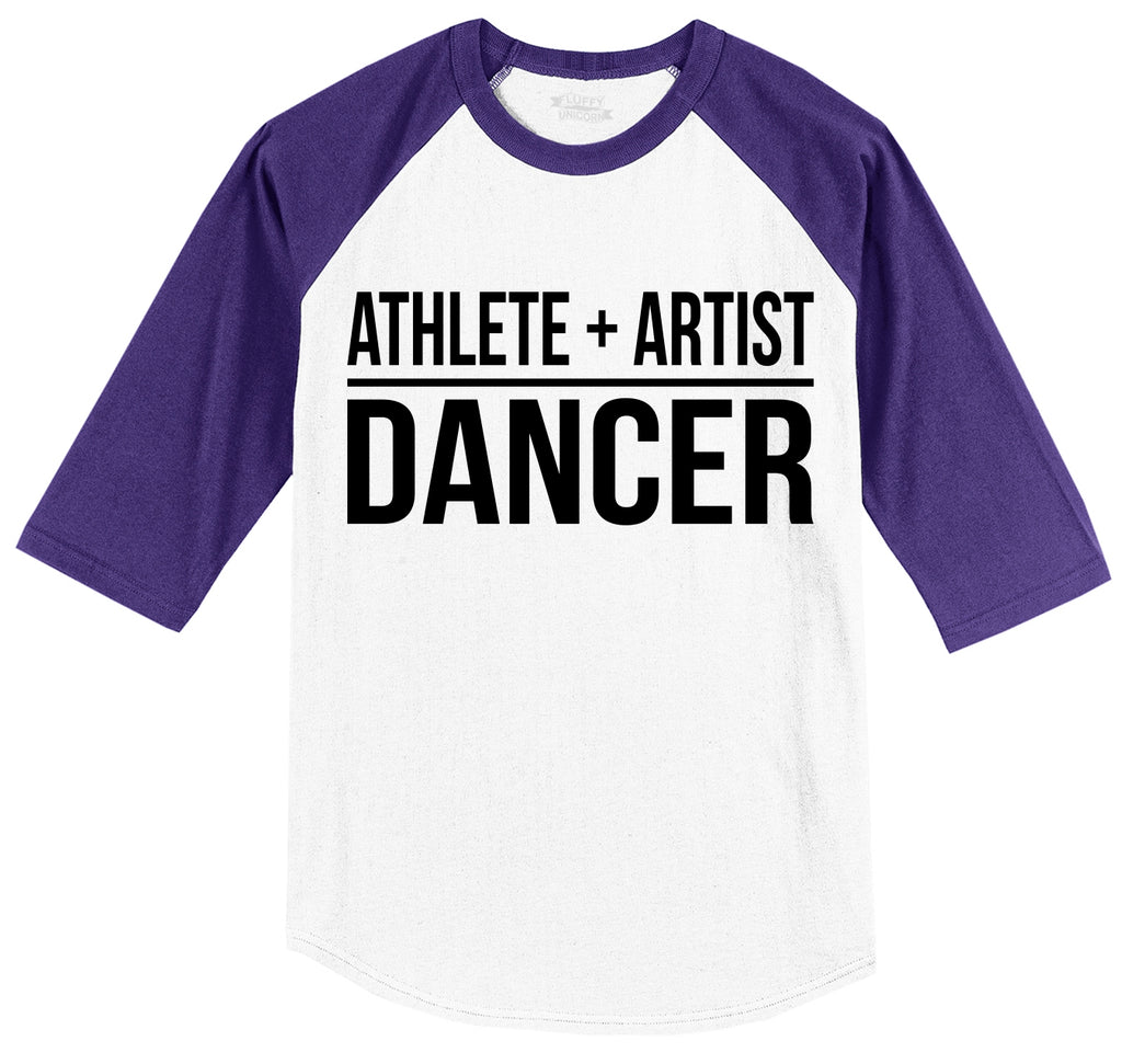 Athlete Artist Dancer Mens 3/4 Sleeve Raglan Jersey