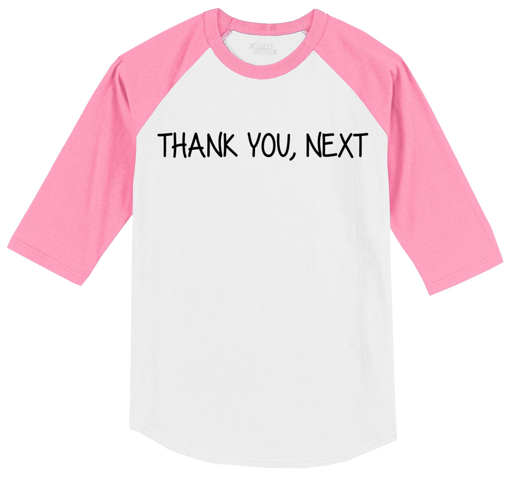 Thank you next Mens 3/4 Sleeve Raglan Jersey