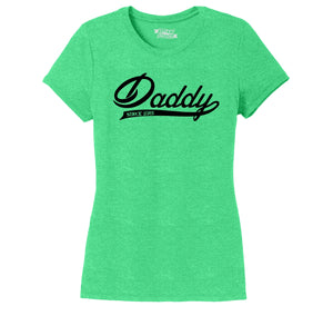 Daddy Since 2015 Ladies Short Sleeve Tri-Blend Shirt