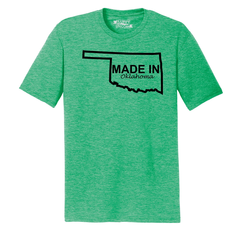 Made In Oklahoma Mens Short Sleeve Tri-Blend Shirt