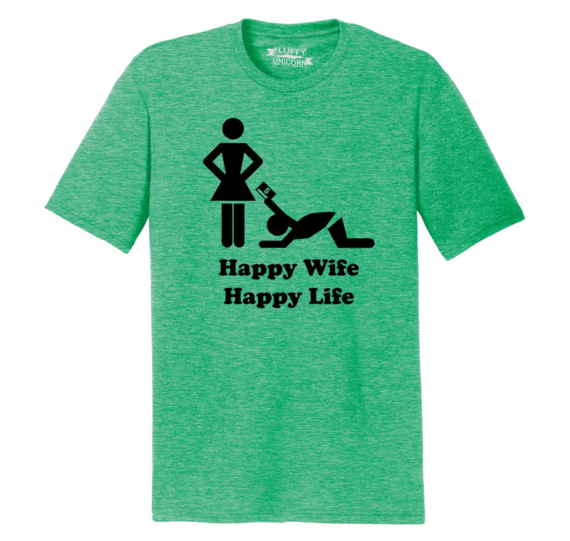Happy Wife Happy Life - Credit Card Mens Short Sleeve Tri-Blend Shirt