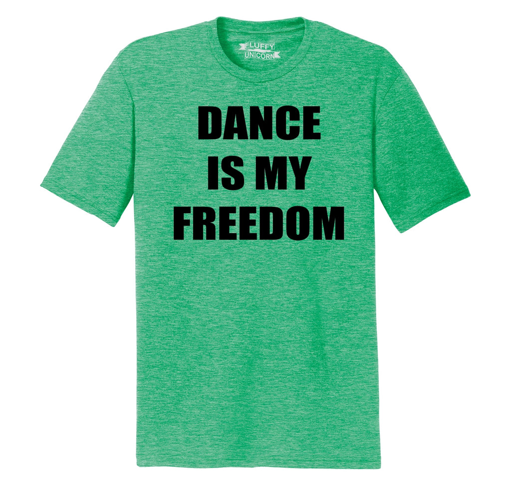 Dance Is My Freedom Mens Short Sleeve Tri-Blend Shirt