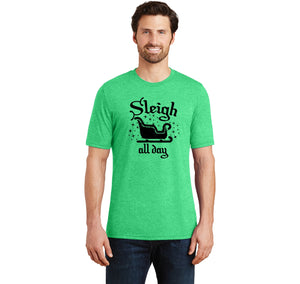 Sleigh All Day Mens Short Sleeve Tri-Blend Shirt