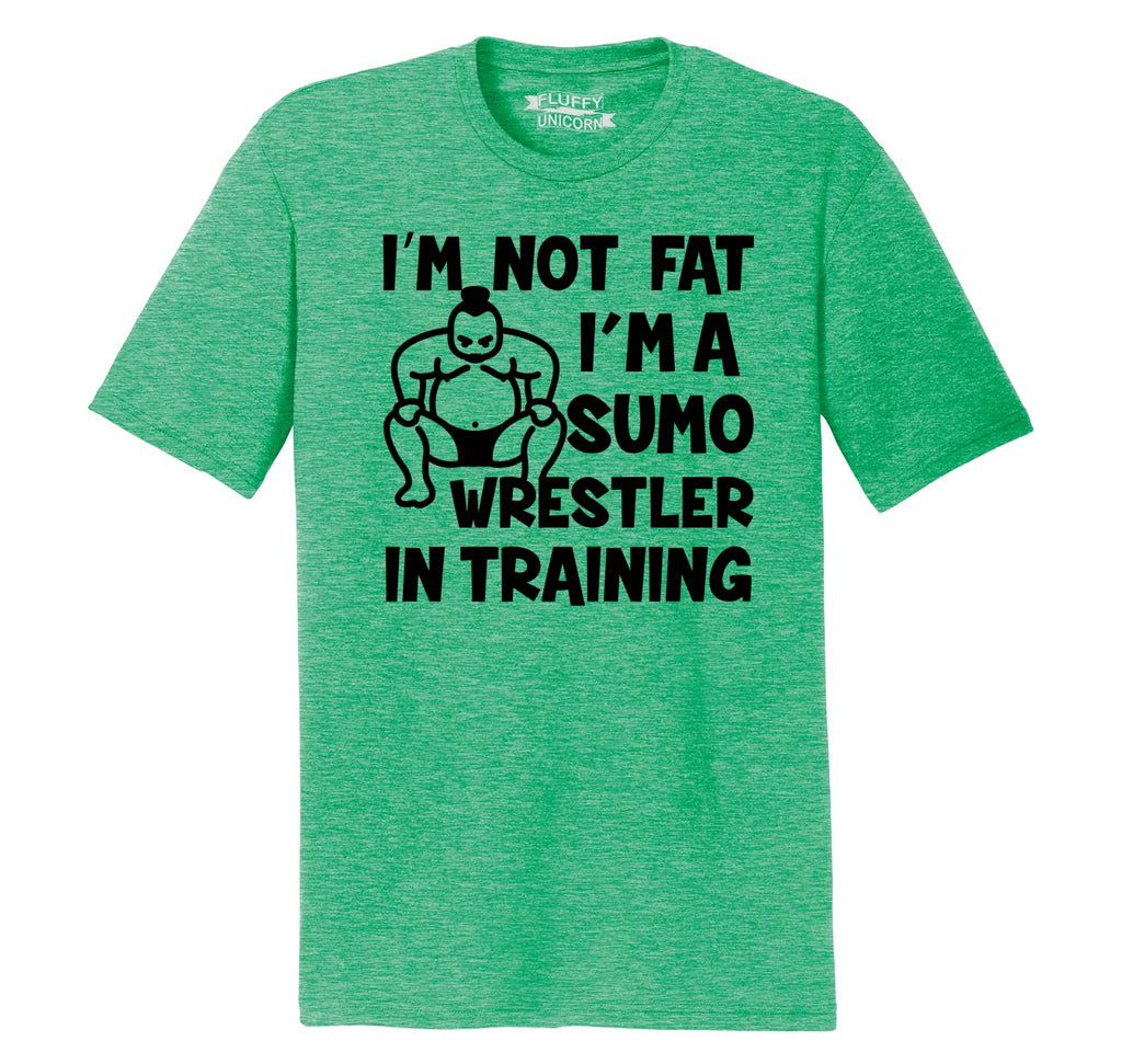 I'm Not Fat I'm A Sumo Wrestler In Training Funny Shirt Mens Short Sleeve Tri-Blend Shirt