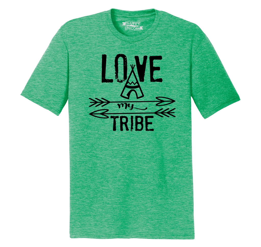 Love My Tribe Mother Father Gift Tee Mens Short Sleeve Tri-Blend Shirt