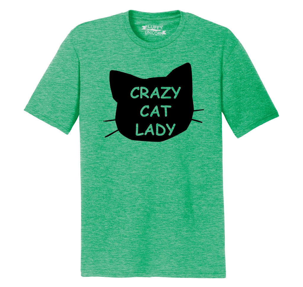 Crazy Cat Lady Funny Cat Lover Gift Shirt Mens Short Sleeve Tri-Blend Shirt
