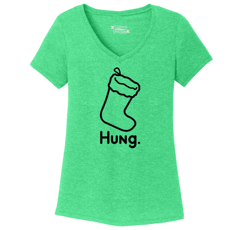 Hung Ladies Tri-Blend V-Neck Tee Shirt